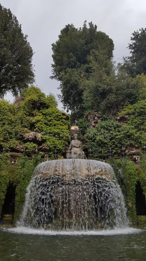 Fountain of the Ovato in the garden of Villa D'Este royalty free stock photography