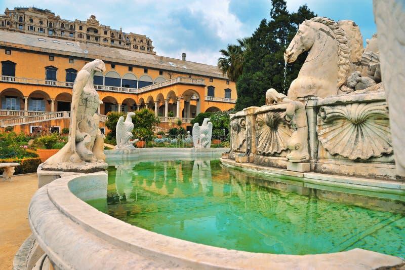 fountain palazzo del principe的片段 免版税库存照片