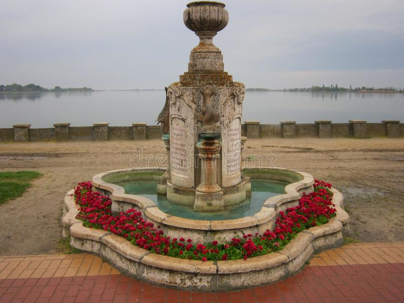 Fountain at Palic Lake royalty free stock photography