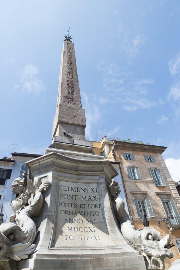 Fountain of the Pantheon stock photo