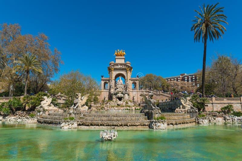 Fountain of Parc de la Ciutadella in Barcelona, Spain royalty free stock photo