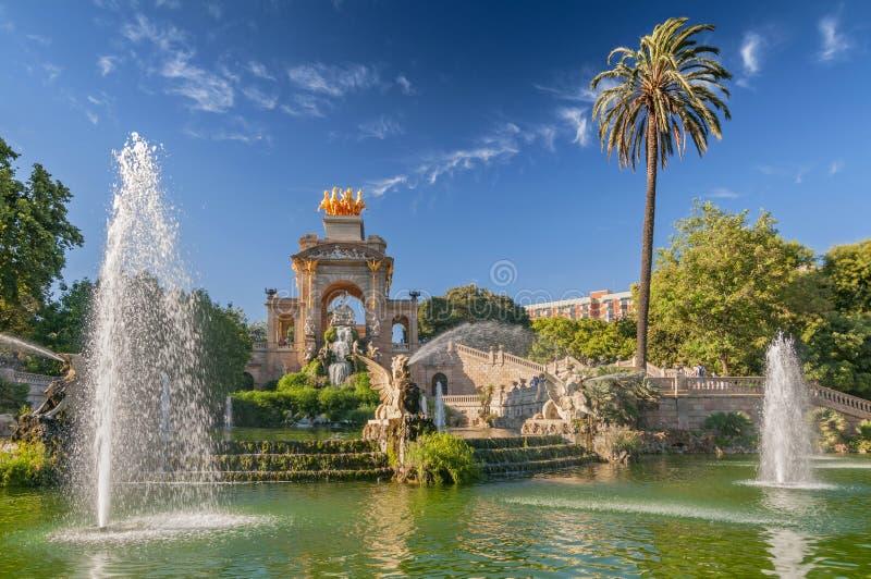 Fountain of Parc de la Ciutadella in Barcelona, Spain.  stock images