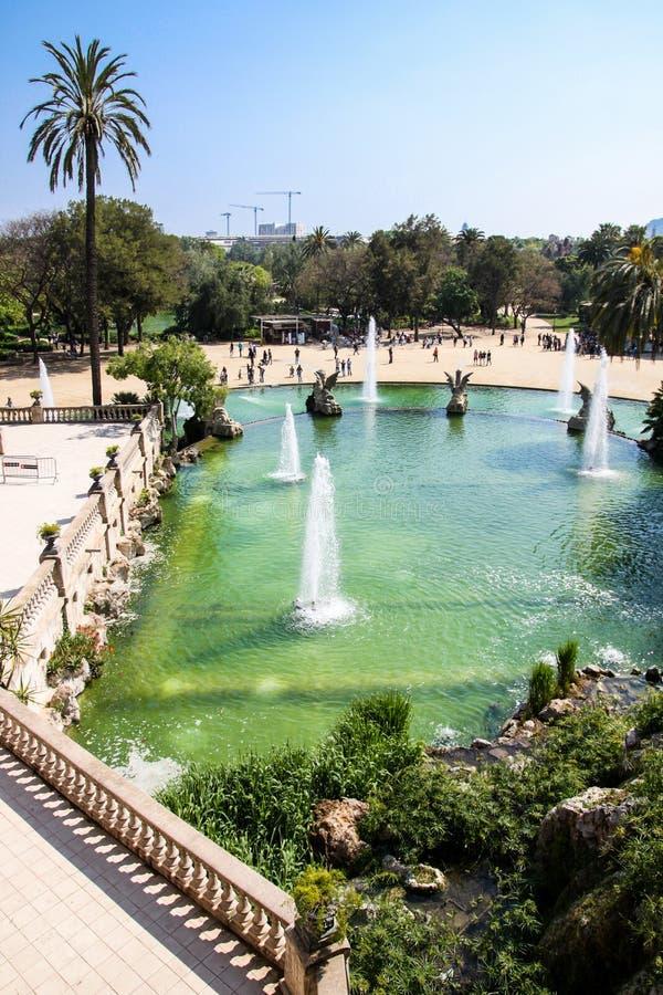 Fountain in Parc de la Ciutadella, Barcelona, Spain stock photography