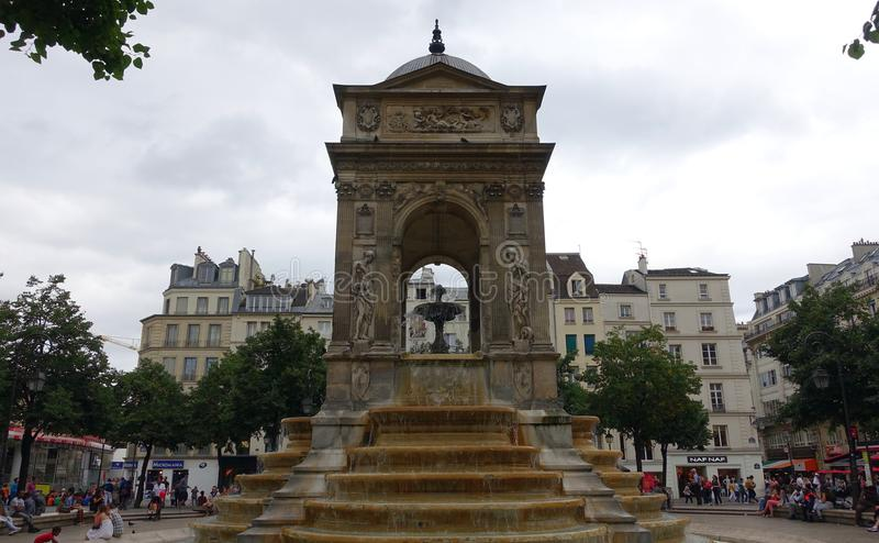 Fountain in Paris royalty free stock photos