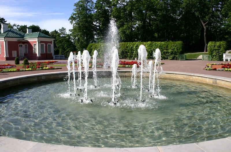 Download Fountain in park stock image. Image of canal, bird, decoration - 23616573