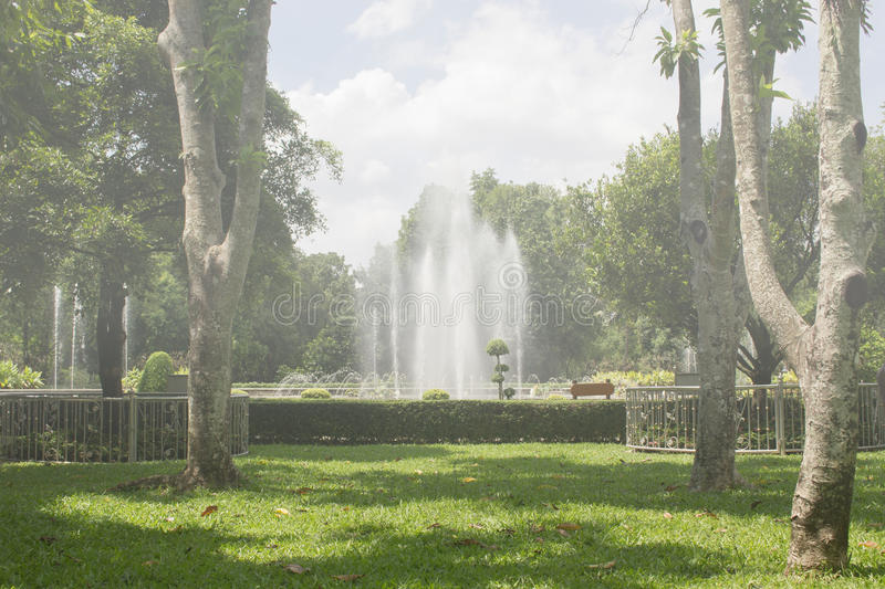 The fountain in the park royalty free stock photography
