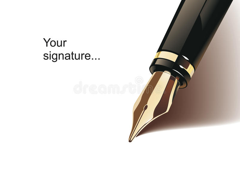Download Fountain pen stock vector. Image of school, classic, detail - 13264833