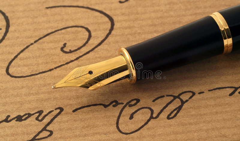 Download Fountain pen stock image. Image of gold, metal, paper - 4064191
