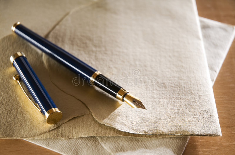 Download Fountain pen stock photo. Image of up, detail, object - 7819642