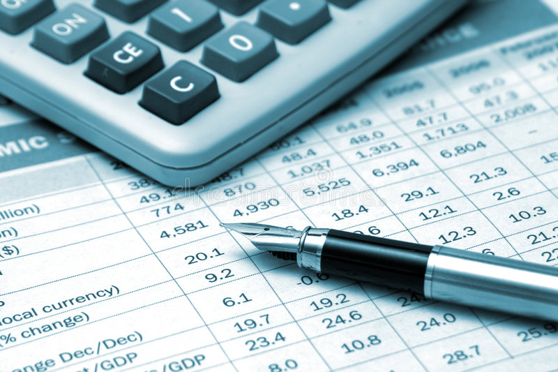 Download Fountain Pen And Calculator Stock Photo - Image: 4350702