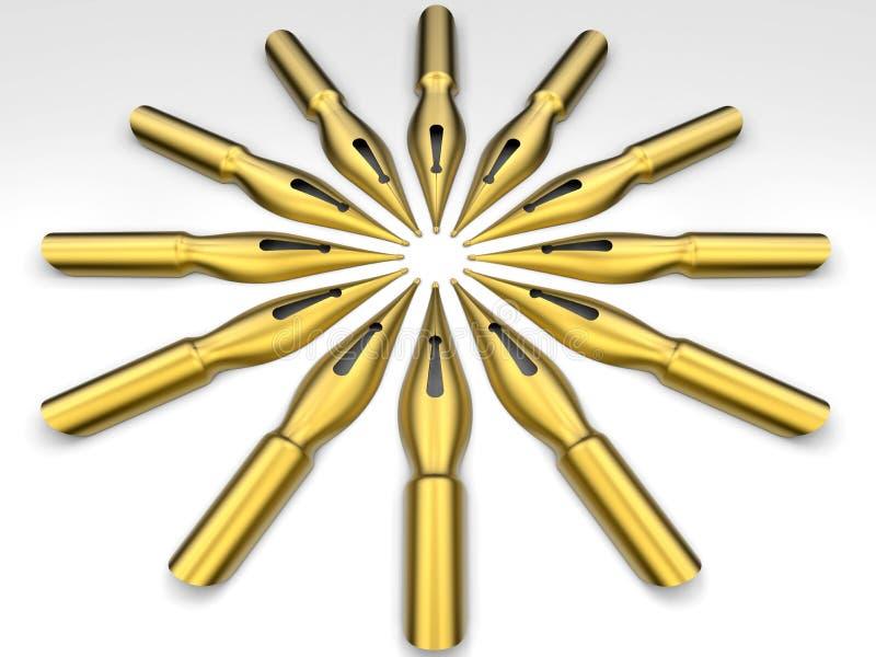 Fountain pen circular pattern stock illustration
