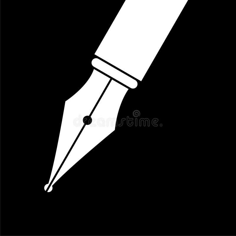 Free Fountain Pen Closeup Logo Or Icon On Dark Background Royalty Free Stock Photo - 132719025