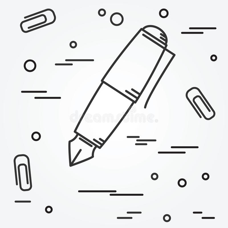 Fountain pen Icon. Fountain pen Icon Vector. royalty free illustration
