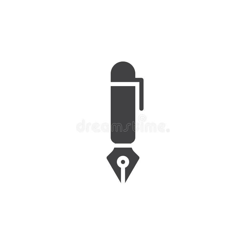 Fountain pen icon vector royalty free illustration