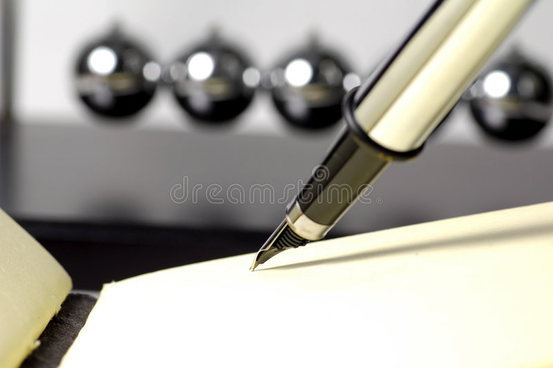 Fountain Pen and Pad royalty free stock image