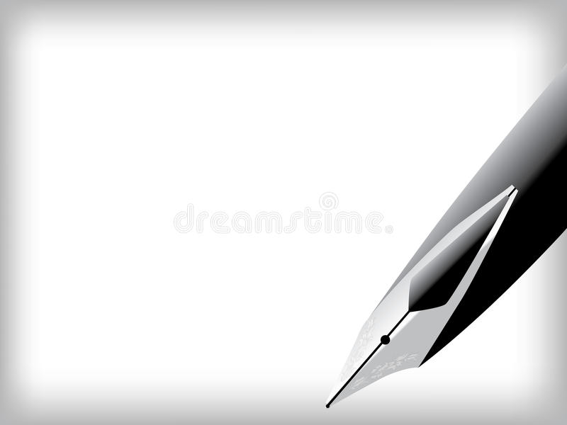Fountain pen and paper. Vector illustration of a fountain pen and paper stock illustration