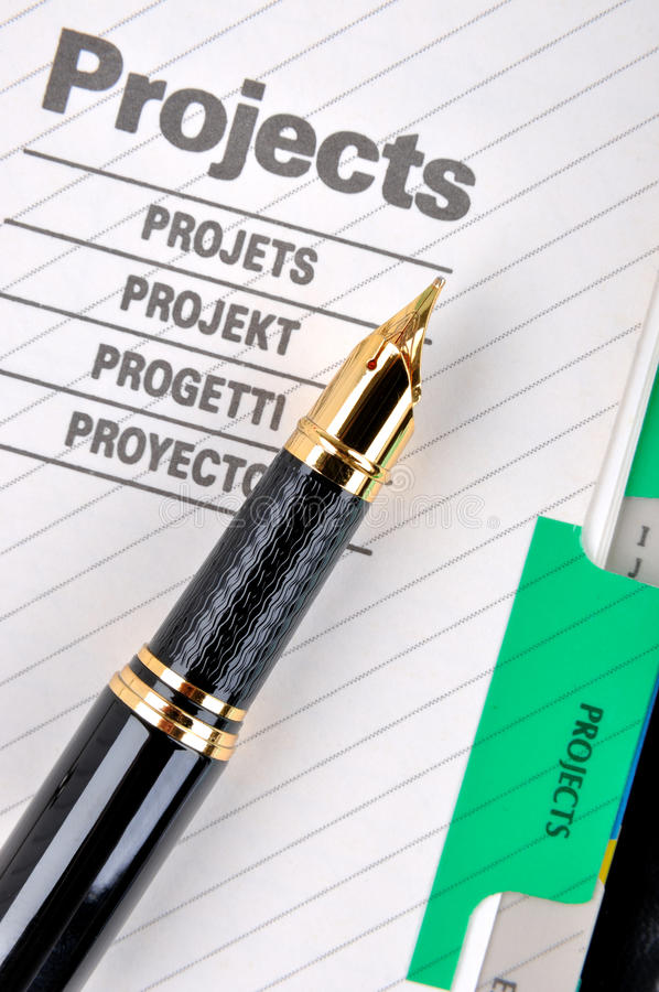 Download Fountain pen on project stock photo. Image of color, fountain - 18550018