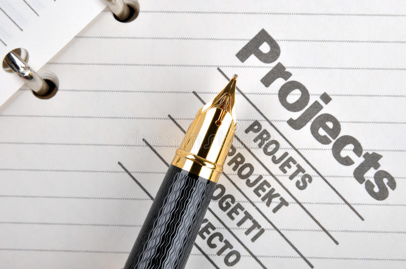 Download Fountain pen on project stock image. Image of project - 18550021