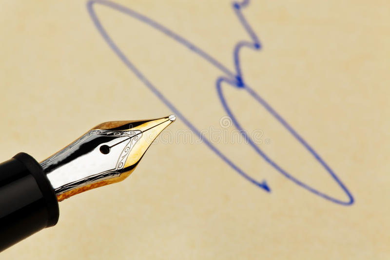 Download Fountain Pen With Signature Stock Image - Image: 24935579