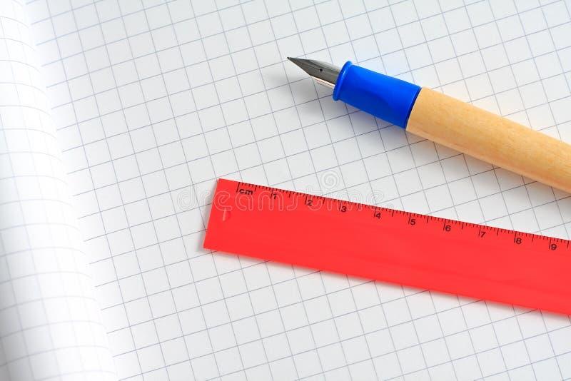 Fountain pen and spacer stock photos