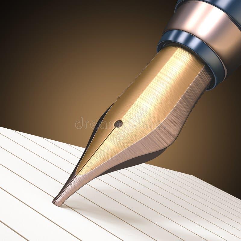 Download Fountain Pen stock illustration. Illustration of education - 35545186