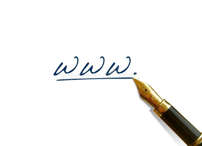 Fountain pen writing stock photography