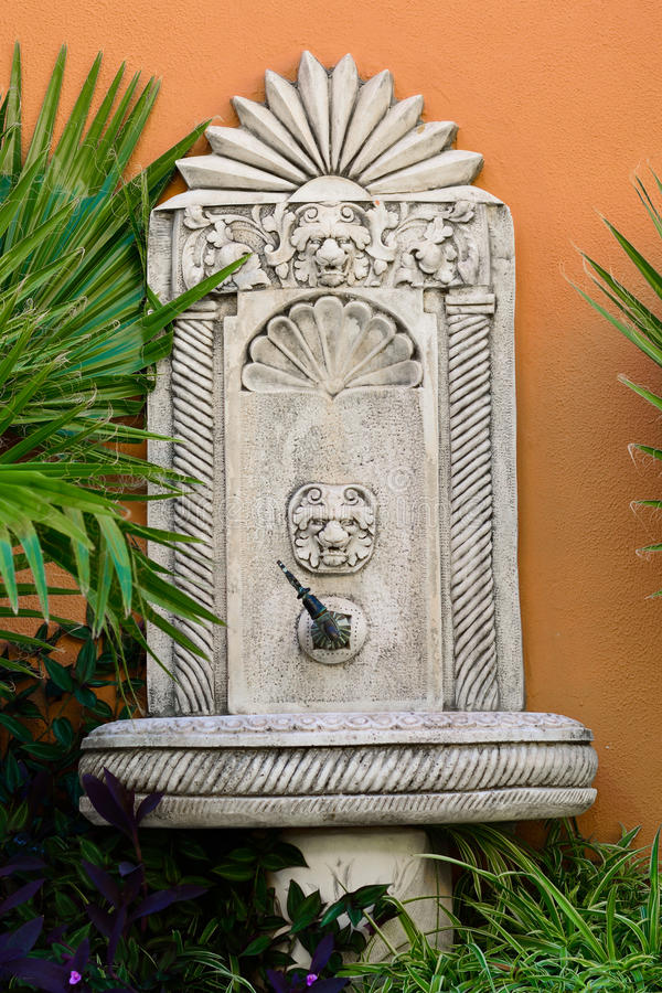 Fountain photo for water drink in antique style. Kemer royalty free stock photos