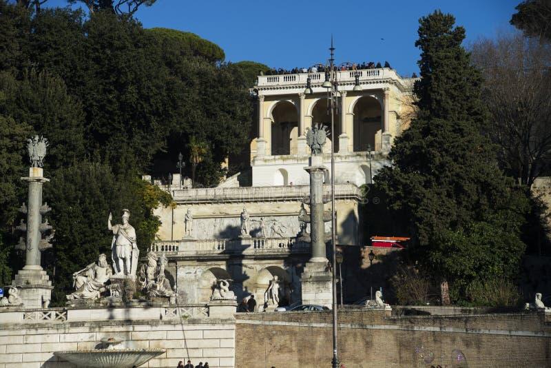 Fountain Piazza del Popolo stock image