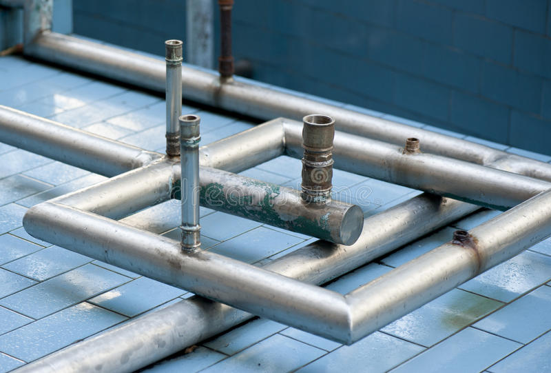 Download Fountain pipes stock photo. Image of metal, spraypond - 25701616