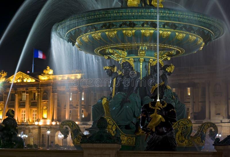 Fountain, Place de la Concorde, Paris, France stock image