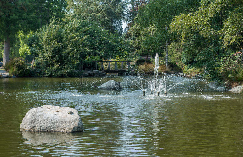 Fountain At Point Defiance stock image