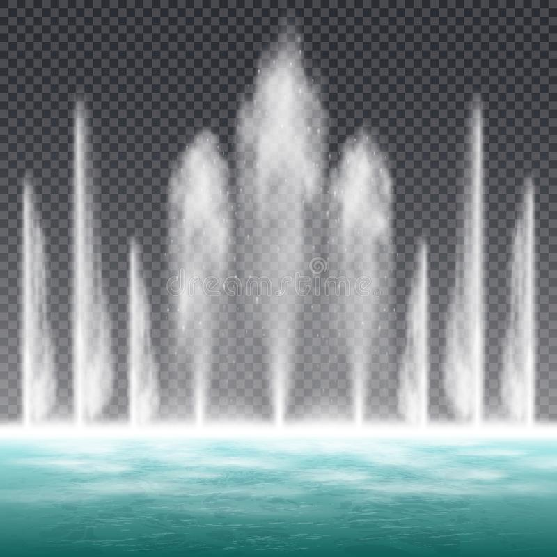 Free Fountain Realistic Transparent Royalty Free Stock Images - 127518079