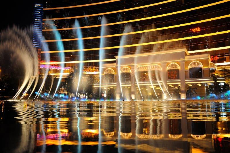 The Fountain Reflection Stock Photo