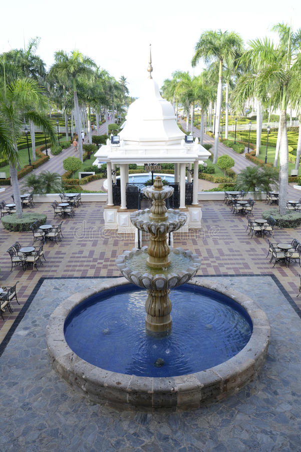 Fountain at the Riu Palace Resort in Punta Cana, stock photo