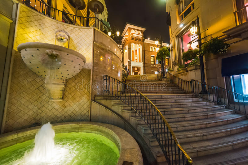 Fountain in Rodeo drive. Beverly Hills royalty free stock photos