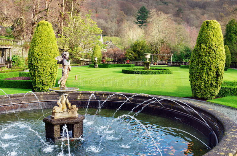Fountain At Rydal Hall, Lake District, England