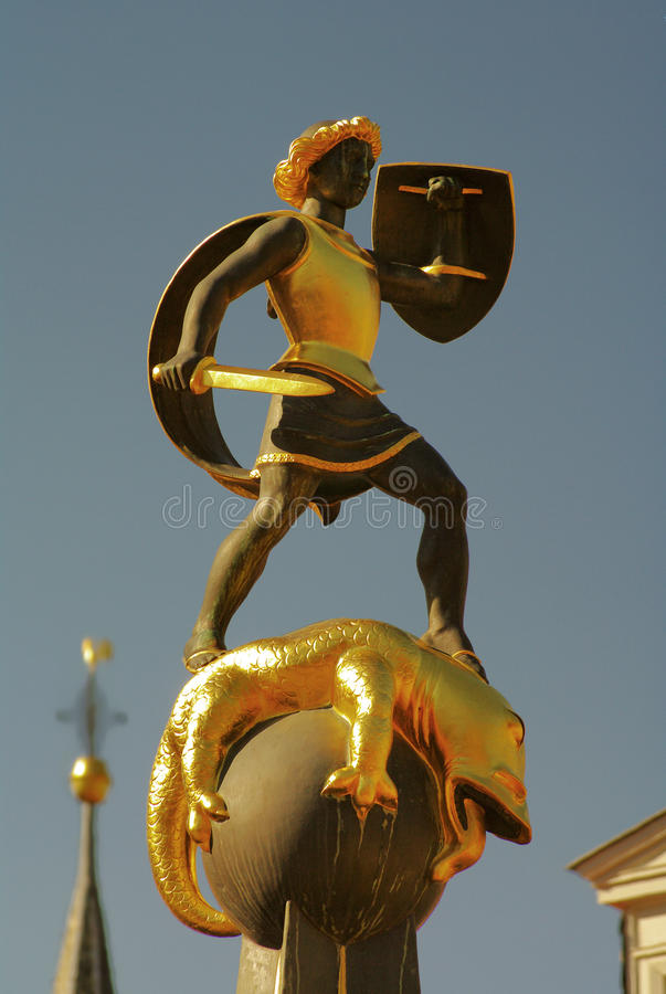 Download The Fountain Of Saint George Slaying The Dragon Stock Image - Image: 15785063