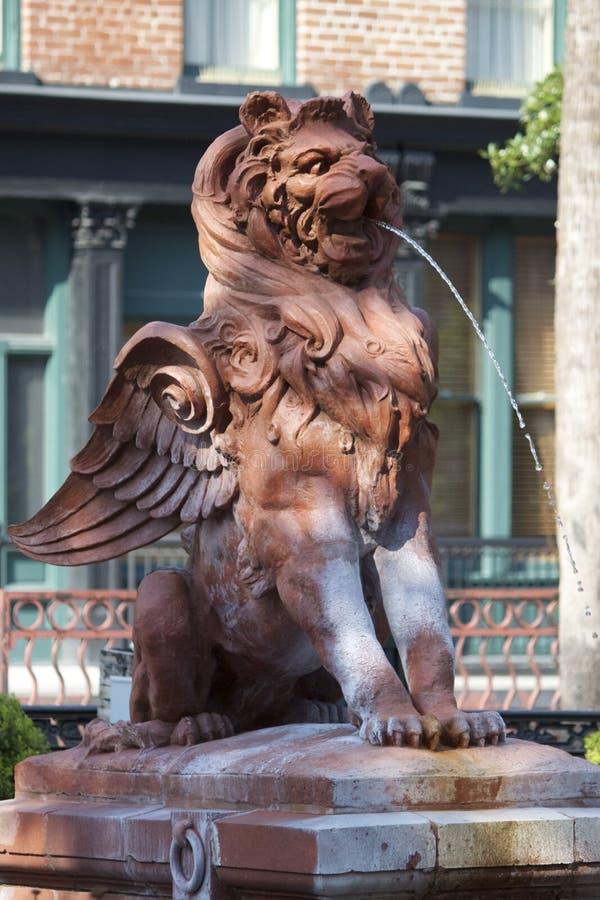 Fountain in Savannah stock photography