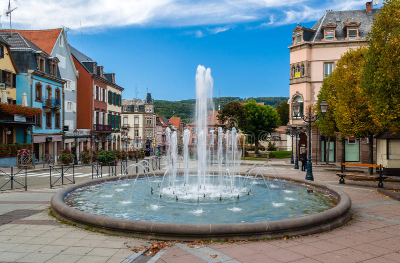 Fountain in Saverne, France stock photography