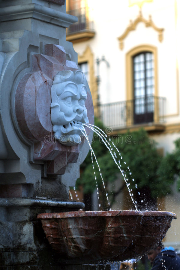 Download Fountain By Seville Cathedral Stock Photo - Image: 859696