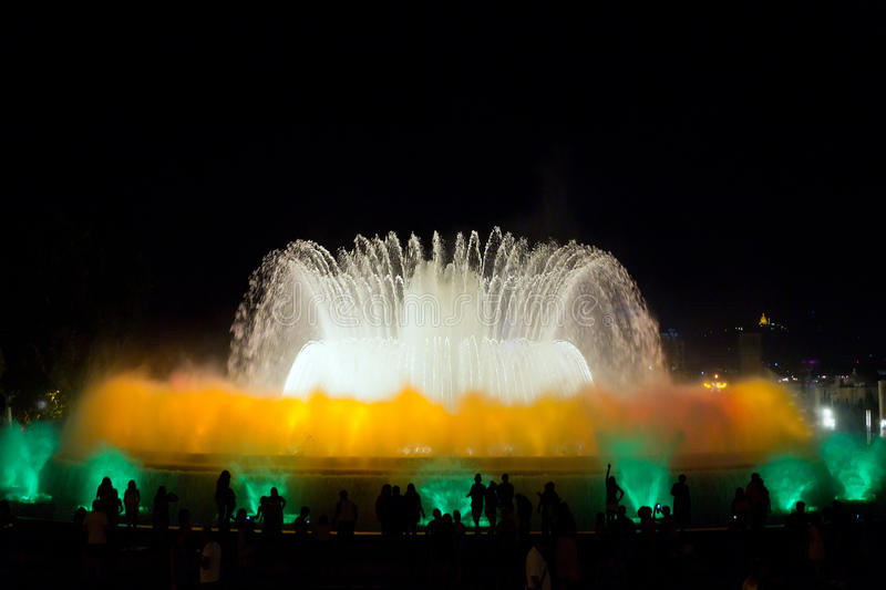Download Fountain show in Barcelona stock photo. Image of show - 29575022