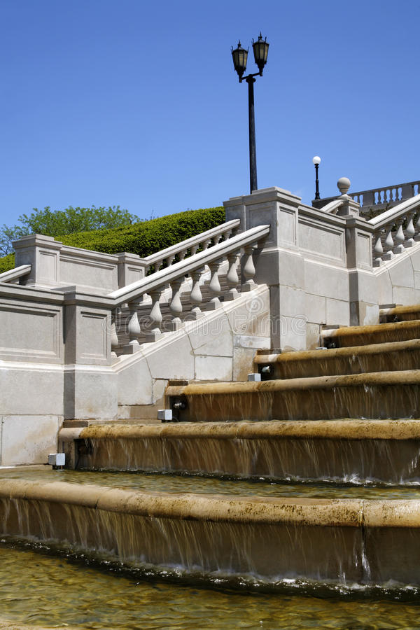 Free Fountain, Stairway And Lamppost Stock Photo - 10962140