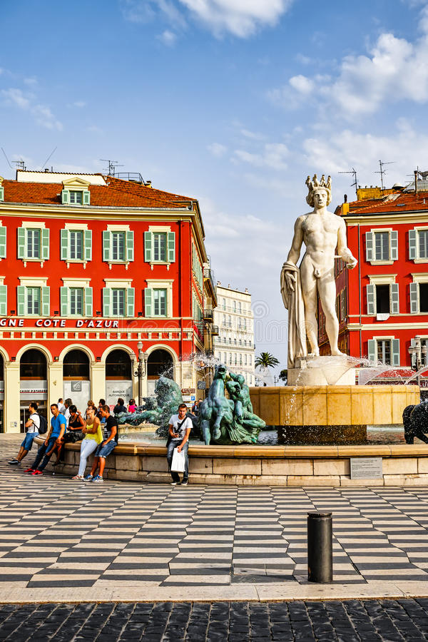 Fountain of the Sun in Nice. France royalty free stock photos