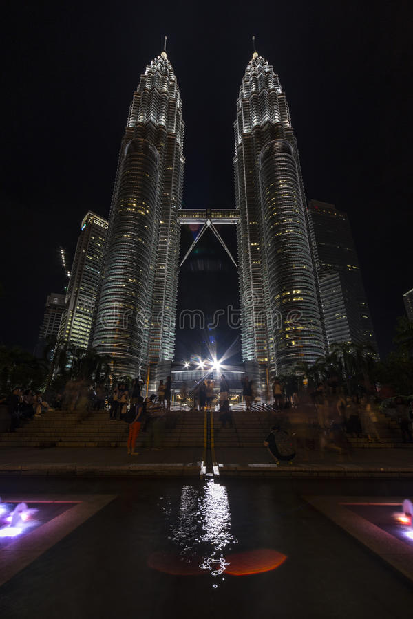 Fountain of Suria KLCC park at Kuala Lumpur royalty free stock photo