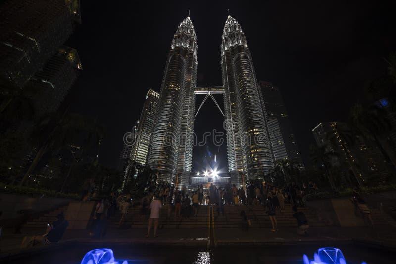 Fountain of Suria KLCC park at Kuala Lumpur royalty free stock image