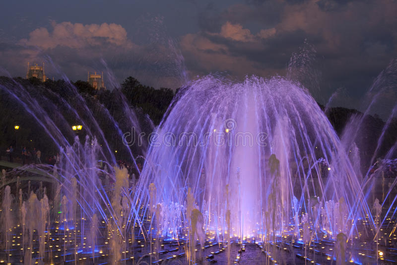 The fountain in Tsaritsyno. (Moscow royalty free stock photography