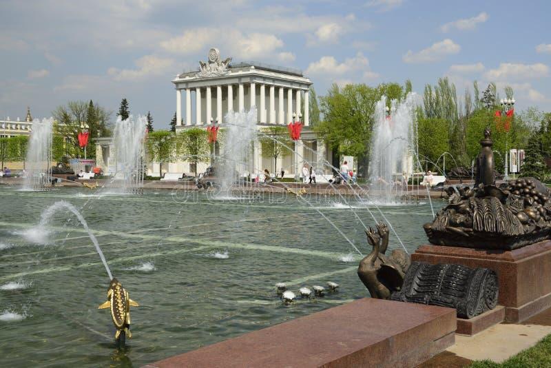Fountain at VDNKh stock photo