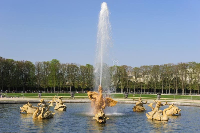 Fountain at Versailles Palace stock images