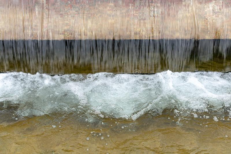 Fountain water falling from a height royalty free stock images