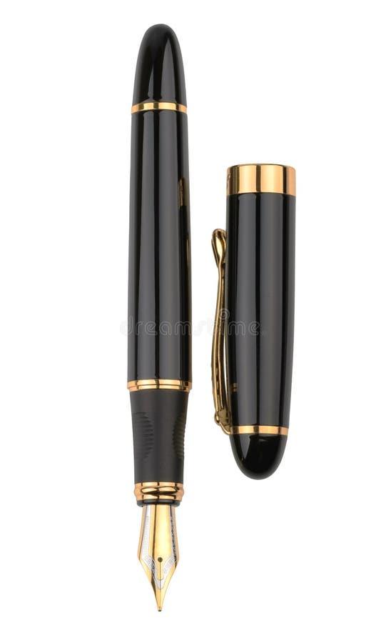 Fountain writing pen isolated on white background royalty free stock photos